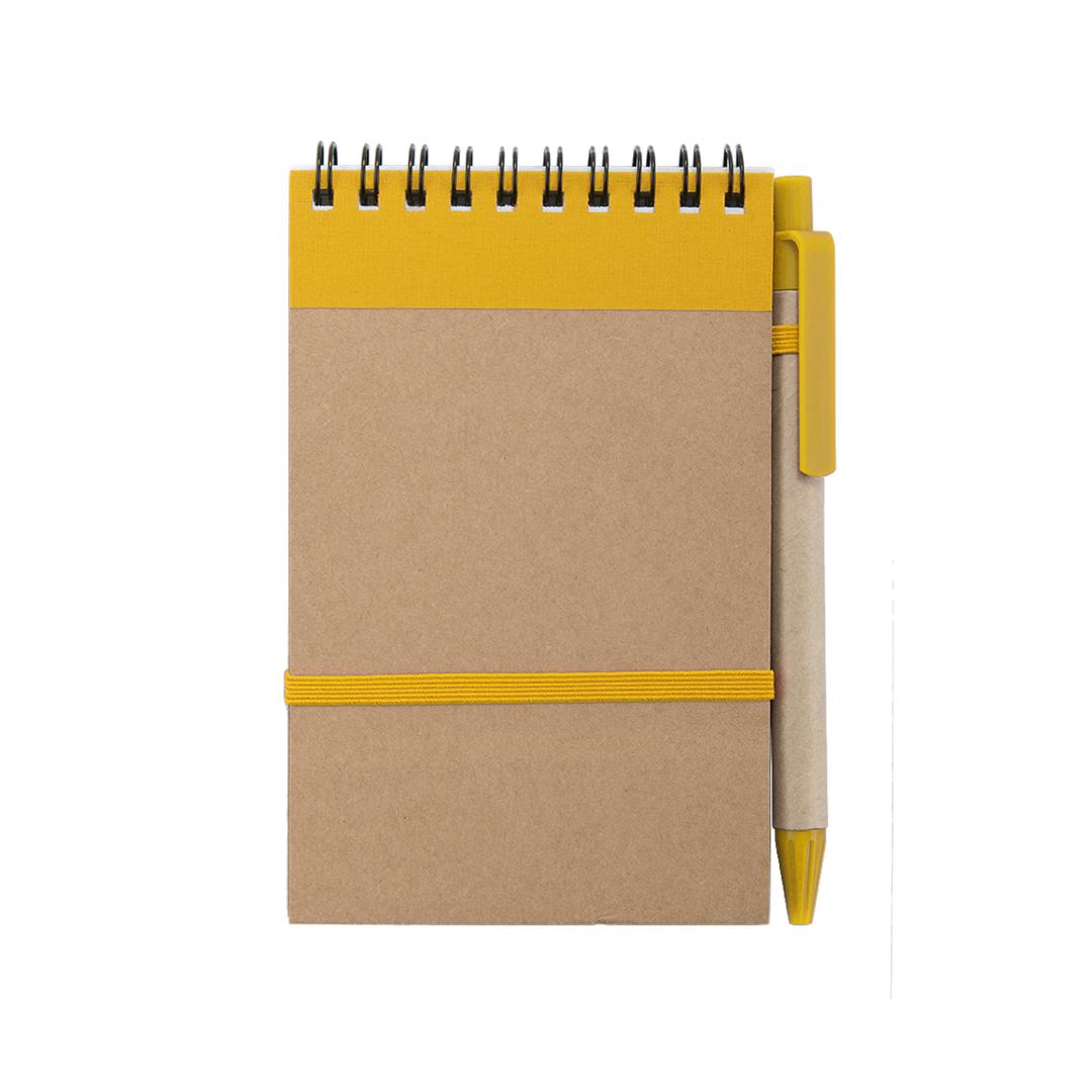 783190 Taccuino Ecocard giallo